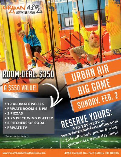 UA Big Game Day Flyer